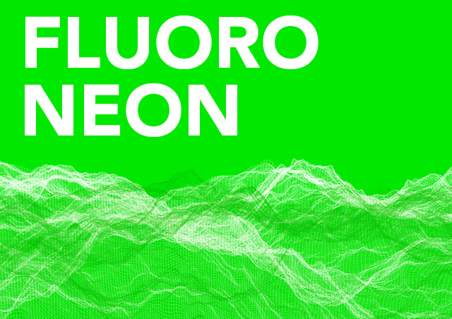 Fluoro, neon, design, trend, graphic